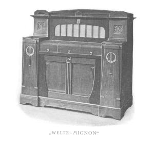 Un Welte-Mignon (senza tastiera)