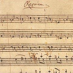 Il manoscritto del Requiem di Mozart